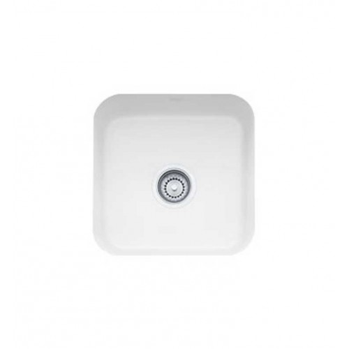 Franke CCK110-15WH White Single Basin Undermount Fireclay Bar Sink