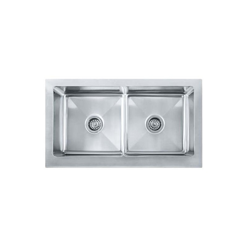 Franke Mhx720 36 Manor House Double Basin Farmhouse Stainless Steel Kitchen Sink