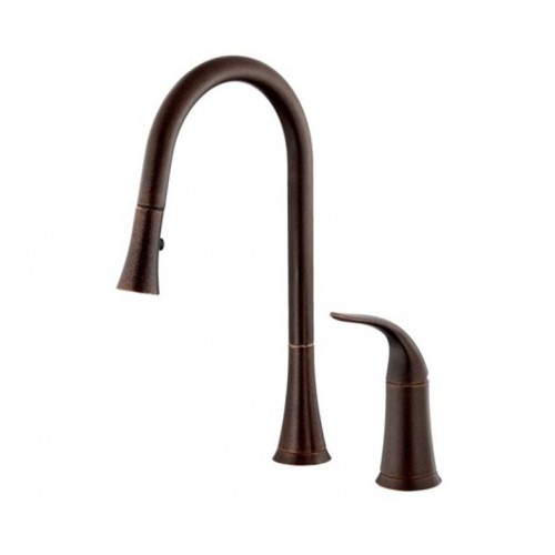 Danze D459022BR Antioch™ Single Handle Pull-Down Kitchen Faucet in Tumbled Bronze
