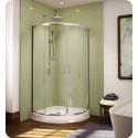 "Fleurco FAX324 Signature Capri Arc 32"" Frameless Curved Glass Sliding Shower Doors"
