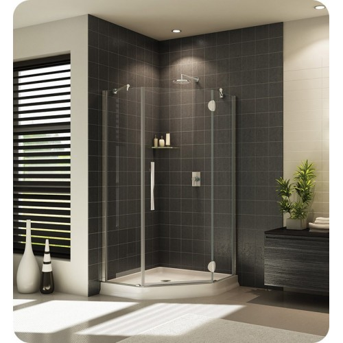 Fleurco PXNA Platinum Neo Angle Single Shower Door with Glass to Glass Hinges and Support Bar System