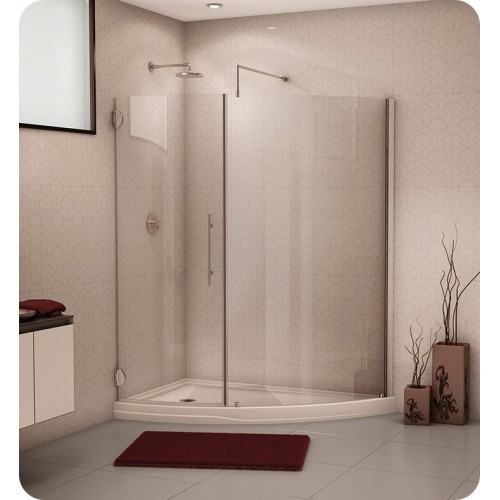 Fleurco PS66 Platinum Solara Curved Glass Door and Panel with Wall Mount Hinges