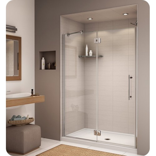 Fleurco PL57 Platinum 57 inch In Line Door and Panel with Glass to Glass Hinges