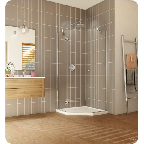 "Fleurco PNA38 Platinum Neo Angle 38"" Single Shower Door"