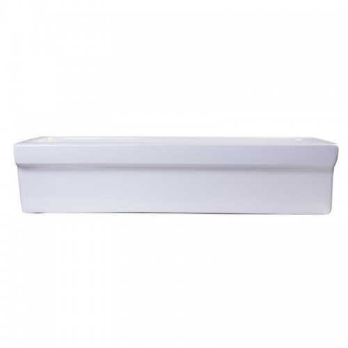 "ALFI brand AB36TR 36"" White Above Mount Porcelain Bath Trough Sink"