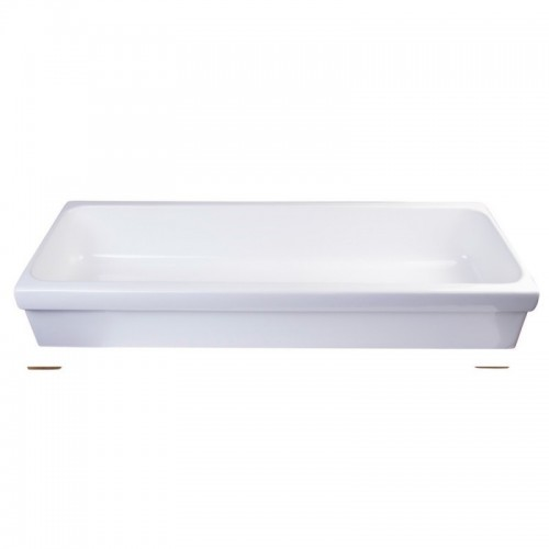 "ALFI brand AB48TR 48"" White Above Mount Porcelain Bath Trough Sink"