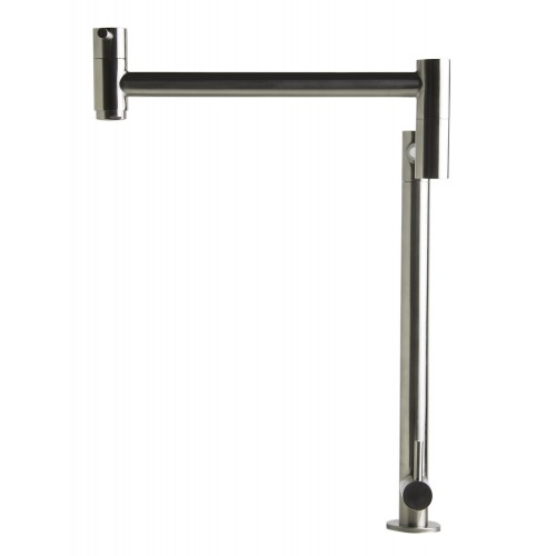 ALFI brand AB5018-BSS Brushed Stainless Steel Retractable Pot Filler Faucet