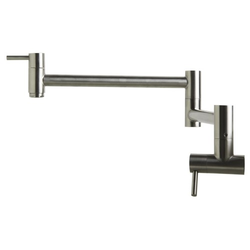 ALFI brand AB5019-BSS Brushed Stainless Steel Retractable Pot Filler Faucet