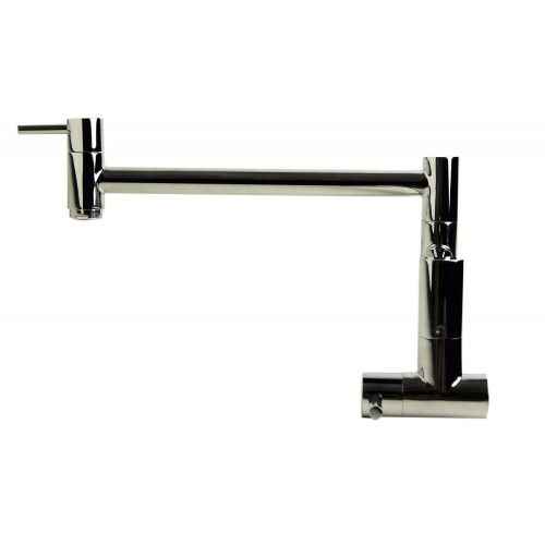 ALFI brand AB5019-PSS Polished Stainless Steel Retractable Pot Filler Faucet