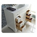 "Fairmont Designs 1502-V42 Framingham 42"" Modern Bathroom Vanity in Polar White"