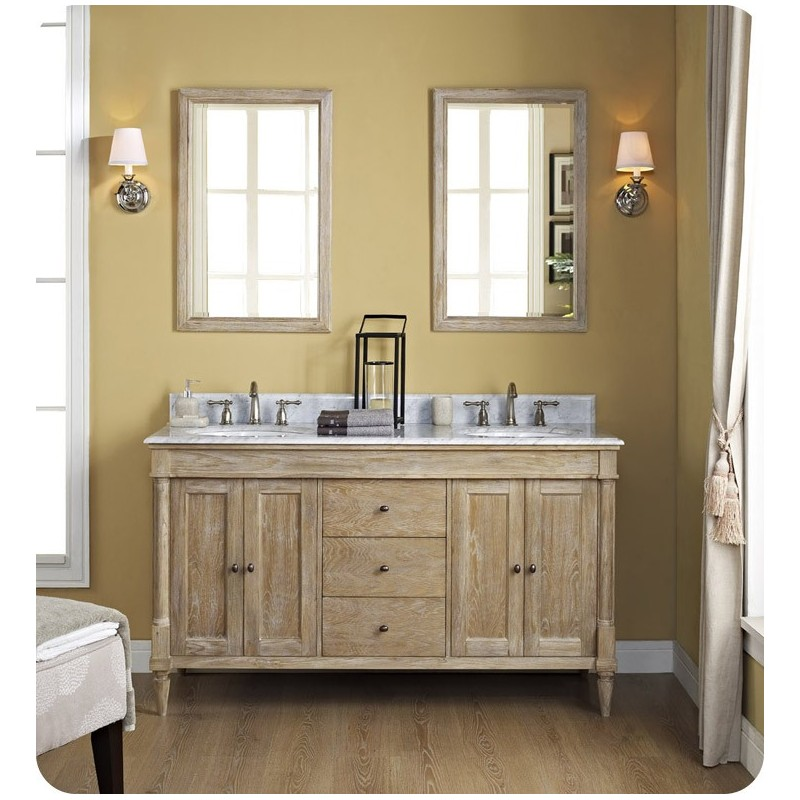 "Fairmont Designs 142-V6021D Rustic Chic 60"" Modern Bathroom Vanity Double Bowl"