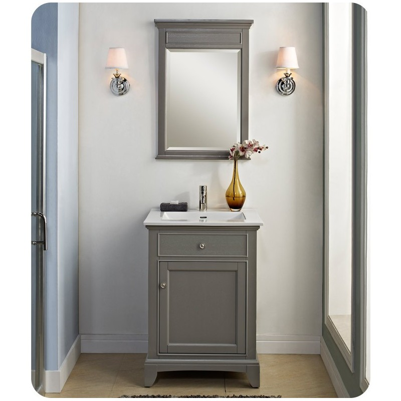"Fairmont Designs 1504-V24 Smithfield 24"" Modern Bathroom Vanity in Medium Gray"