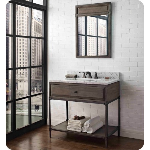 "Fairmont Designs 1401-VH36 Toledo 36"" Open Shelf Modern Bathroom Vanity"