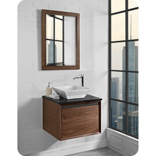 """Fairmont Designs 1505-WV24 m4 24"""" Wall Mount Vanity in Natural Walnut"""