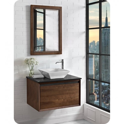 """Fairmont Designs 1505-WV30 m4 30"""" Wall Mount Vanity in Natural Walnut"""