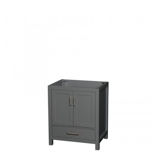 30 inch Single Bathroom Vanity in Dark Gray, No Countertop, No Sink, and No Mirror