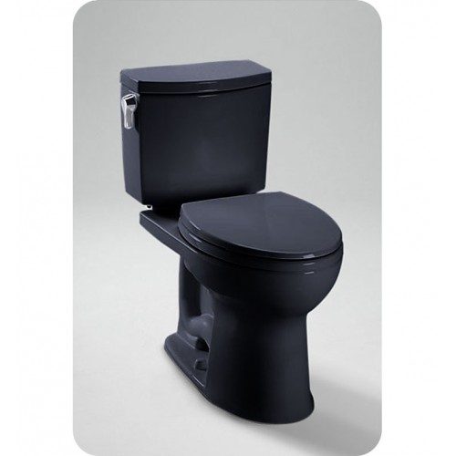 TOTO CST454CUF Drake II 1G Close Coupled Toilet in Ebony Black