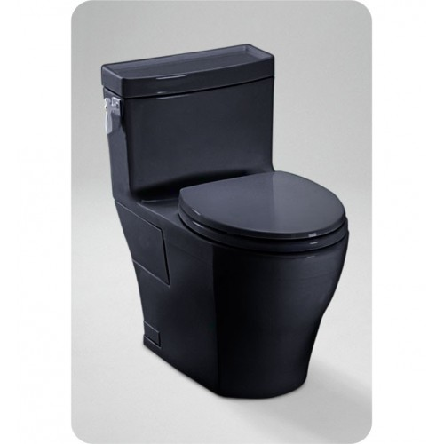 TOTO MS626214CEF Aimes® One-Piece High-Efficiency Toilet in Ebony Black, 1.28GPF