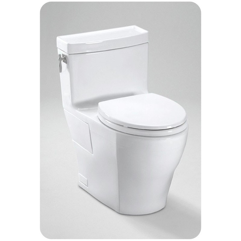 TOTO MS626214CEFG Aimes® One-Piece High-Efficiency Toilet, 1.28GPF, with SanaGloss