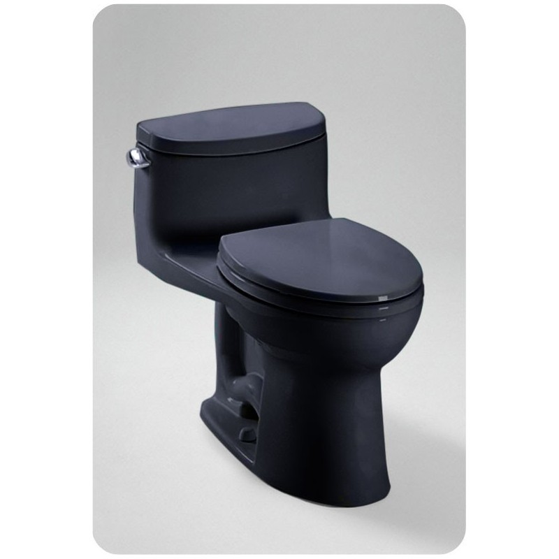 TOTO MS634114CEF Supreme® II One-Piece High-Efficiency Toilet in Ebony Black Finish, 1.28GPF