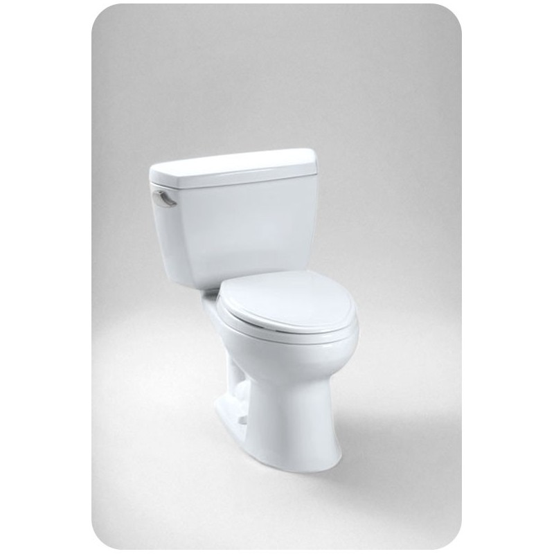 TOTO CST744EF.10 Toto Eco Drake® Two-Piece Toilet, 1.28GPF Left Hand Trip Lever