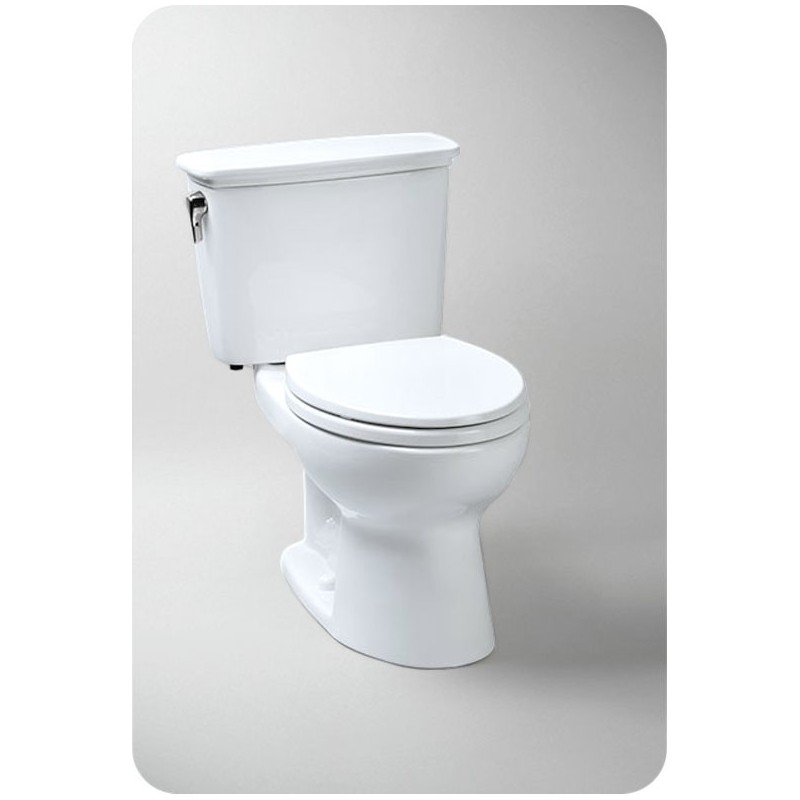 TOTO CST744EFN.10 Toto Eco Drake® Transitional Toilet, 1.28 GPF Universal Height Left Hand Trip Lever