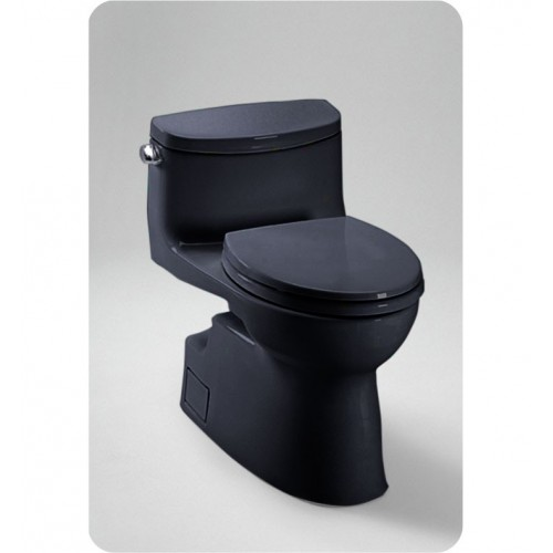 TOTO MS644114CEF Carolina® II One-Piece High-Efficiency Toilet in Ebony Black, 1.28GPF
