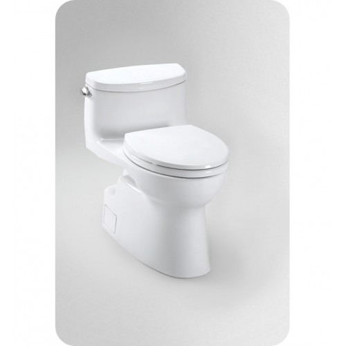 TOTO MS644114CEFG Carolina® II One-Piece High-Efficiency Toilet, with SanaGloss, 1.28GPF