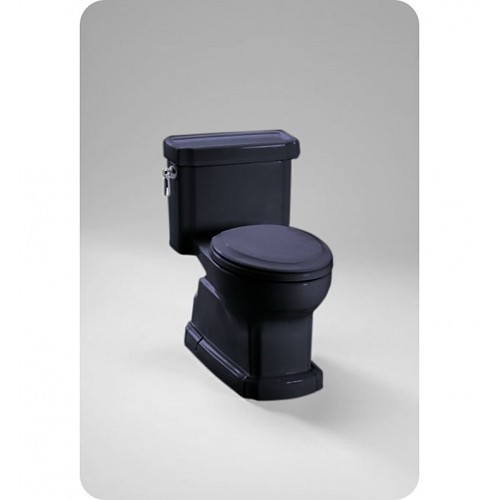 TOTO MS974224CEF Eco Guinevere® Toilet in Ebony Black, 1.28 GPF ADA
