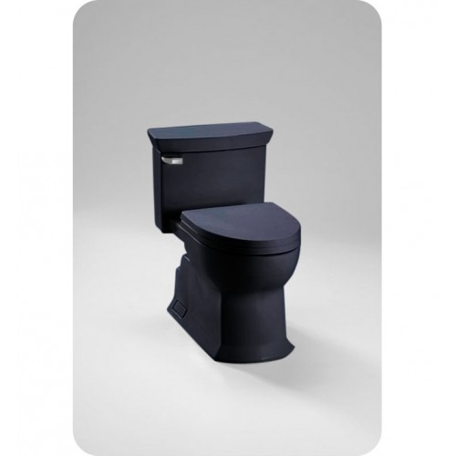TOTO MS964214CEF Eco Soirée® One Piece Toilet in Ebony Black, Universal Height, 1.28 GPF