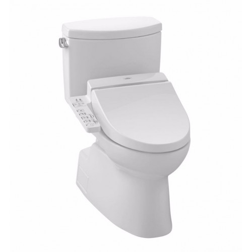 TOTO MW4742034CEFG01 Vespin® II Connect+™ C100 Two-Piece Toilet - 1.28 GPF in Cotton with Washlet