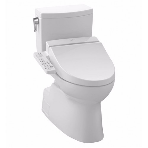 TOTO MW4742034CUFG01 Vespin® II 1G Connect+™ C100 Two-Piece Toilet - 1.0 GPF in Cotton with Washlet