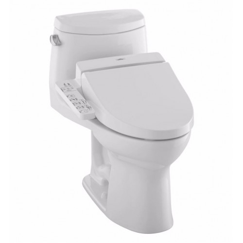 TOTO MW6042034CEFG01 UltraMax II Connect+™ C100 One-Piece Toilet - 1.28 GPF in Cotton with Washlet