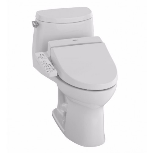TOTO MW6042034CUFG01 UltraMax II 1G Connect+™ C100 One-Piece Toilet - 1.0 GPF in Cotton with Washlet