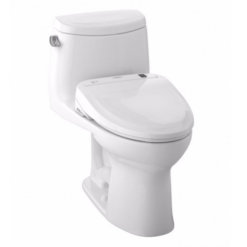 TOTO MW604574CEFG01 UltraMax II Connect+™ S300e One-Piece Toilet - 1.28 GPF in Cotton with Washlet