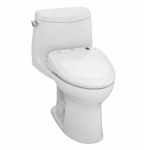 TOTO MW604574CUFG01 UltraMax II 1G Connect+™ S300e One-Piece Toilet - 1.0 GPF in Cotton with Washlet