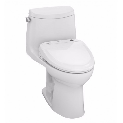 TOTO MW604584CUFG01 UltraMax II 1G Connect+™ S350e One-Piece Toilet - 1.0 GPF in Cotton with Washlet