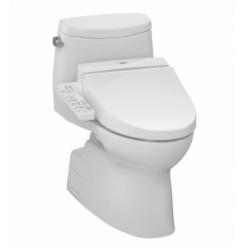 TOTO MW6142034CEFG01 Carlyle® II Connect+™ C100 One-Piece Toilet - 1.28 GPF in Cotton with Washlet