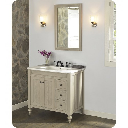 "Fairmont Designs 1524-V36R Crosswinds 36"" Traditional Vanity with Right side door in Slate Gray"