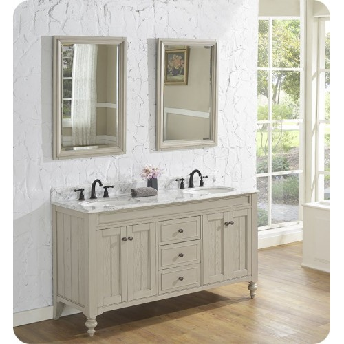 "Fairmont Designs 1524-V6021D Crosswinds 60"" Double bowl Traditional Vanity in Slate Gray"