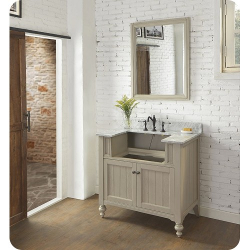 "Fairmont Designs 1524-FV36 Crosswinds 36"" Farmhouse Traditional Vanity in Slate Gray"