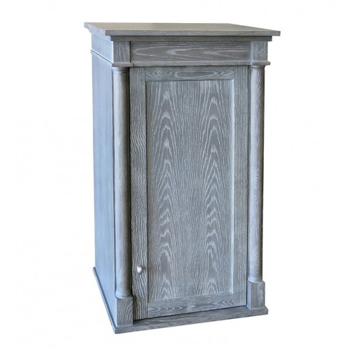 "Fairmont Designs 143-HT2118 Rustic Chic 21x18"" Linen Hutch in Silvered Oak"