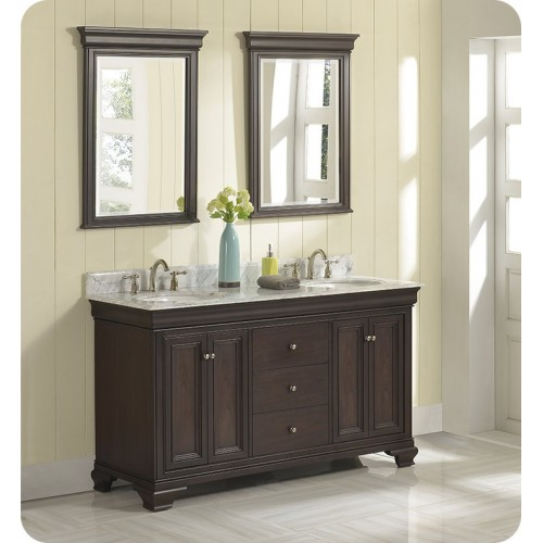 "Fairmont Designs 1529-V6021D Providence 60"" Double Bowl Traditional Vanity in Aged Chocolate"