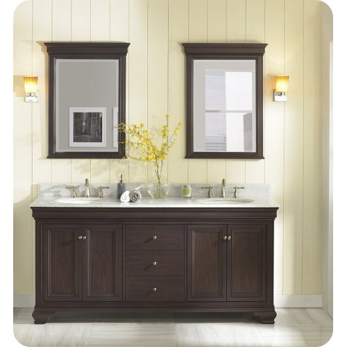 "Fairmont Designs 1529-V7221D Providence 72"" Double Bowl Traditional Vanity in Aged Chocolate"
