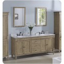 """Fairmont Designs 142-V7221D Rustic Chic 72"""" Double Bowl Transitional Vanity in Weathered Oak"""