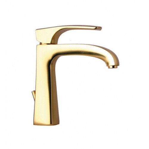 LaToscana 89OK211 Lady Single Handle Lavatory Faucet in Satin Gold