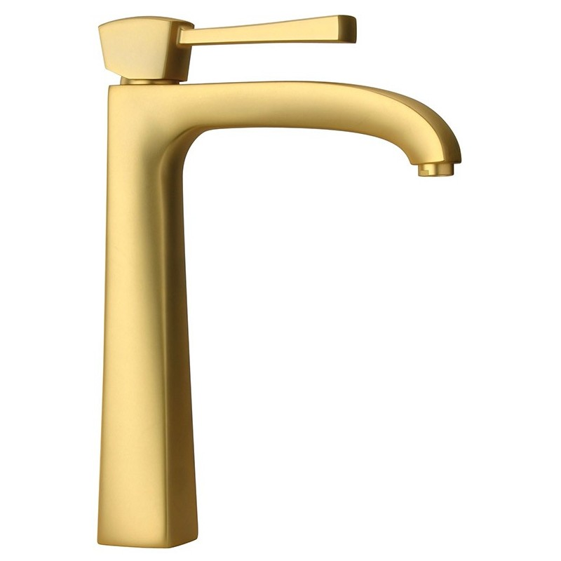LaToscana 89OK205LL Lady Single Handle 11 inch Tall Lavatory Faucet in Satin Gold