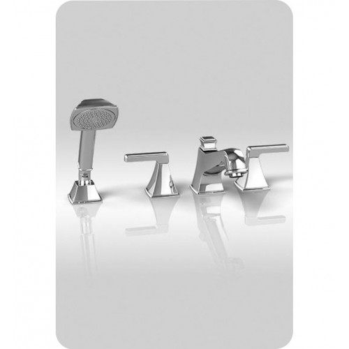 TOTO TB221S Connelly™ Four-Hole Roman Tub Filler with Handshower