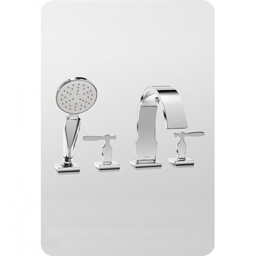 TOTO TB626S1 Aimes® Deck-Mount Tub Filler Trim with Handshower