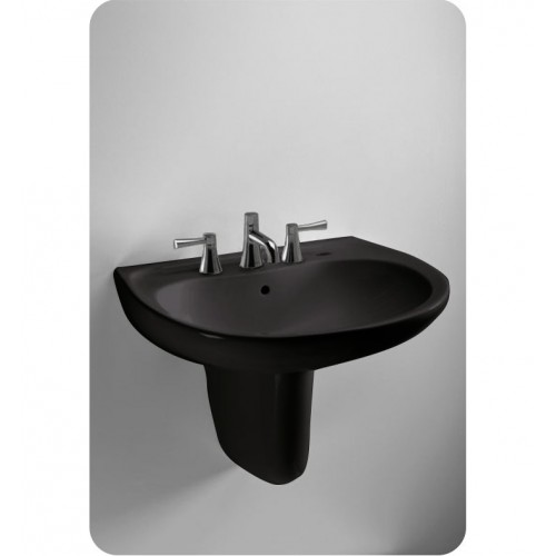 TOTO LHT241 Supreme® Wall Mount Lavatory in Ebony Black